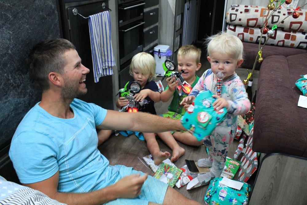 Christmas in the van!