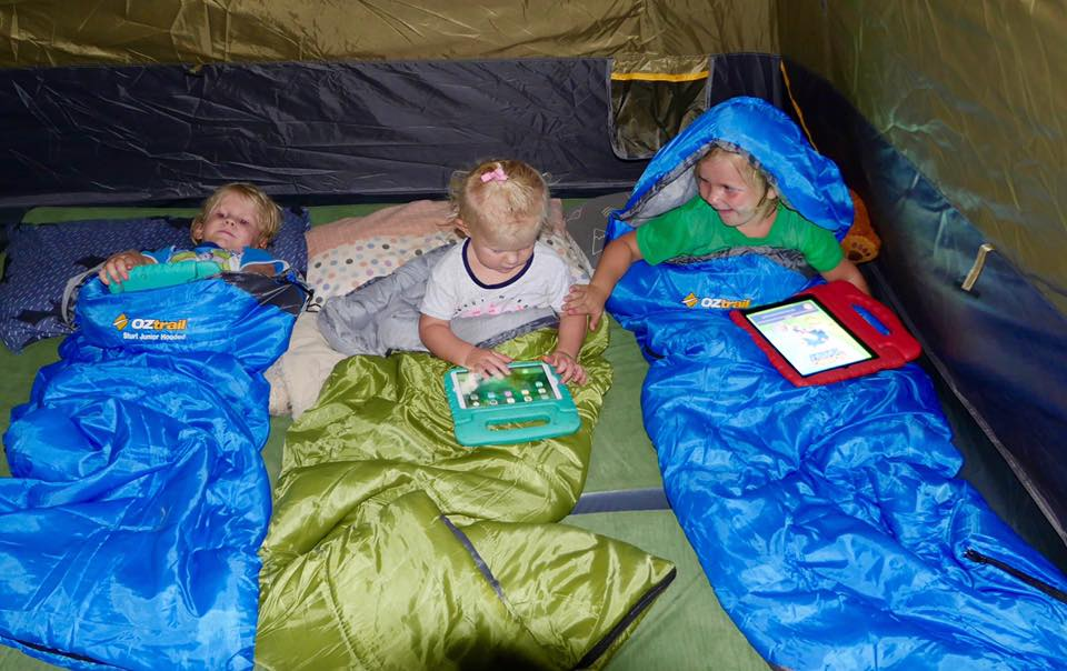 Some iPad time while in a tent at Cape York, QLD.