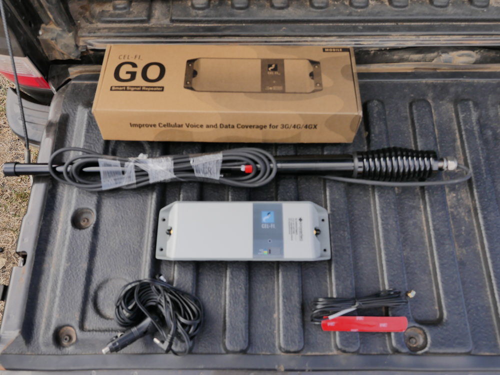 External Antenna, CEL-FI GO module, Internal Antenna & 12 volt power cord! EASY INSTALL