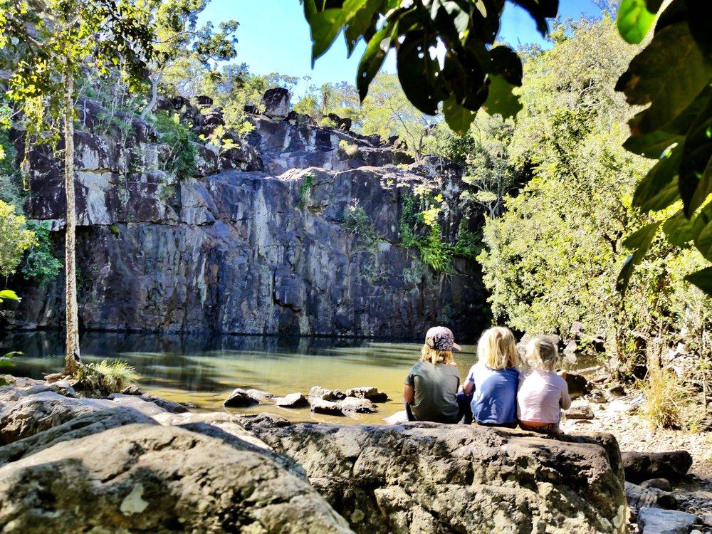 Cedar Creek Falls - not running, but still beautiful!