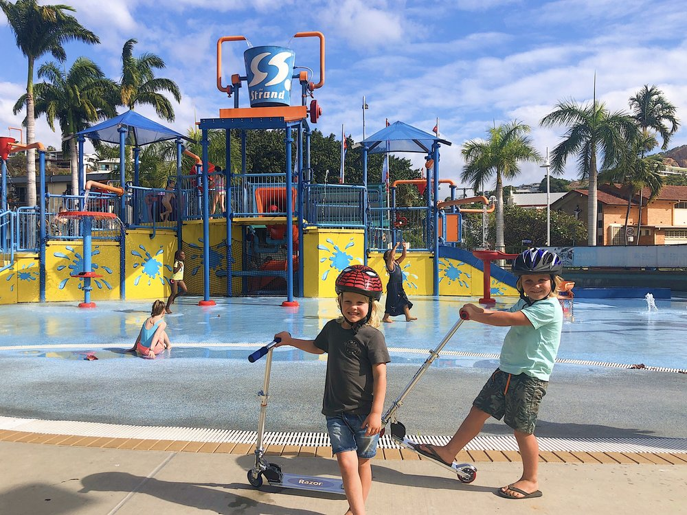 The Strand in Townsville and FREE waterpark!
