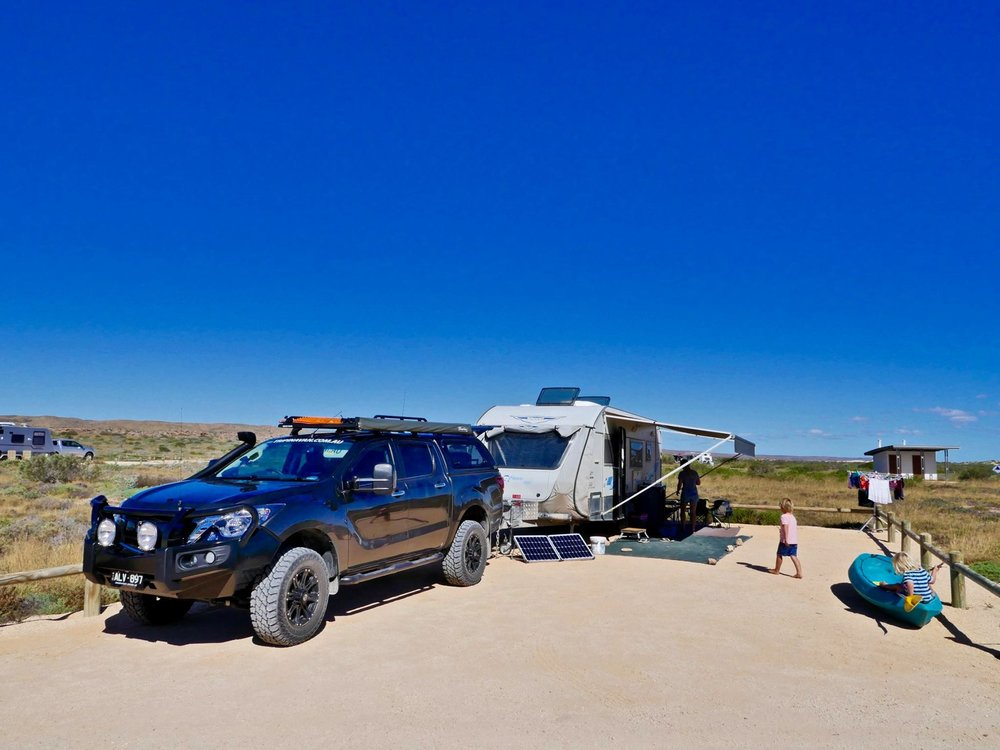 Our campsite at Osprey Bay.