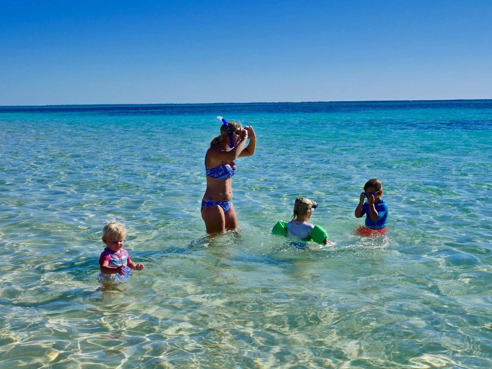Amazingly blue waters of the Ningaloo Reef.