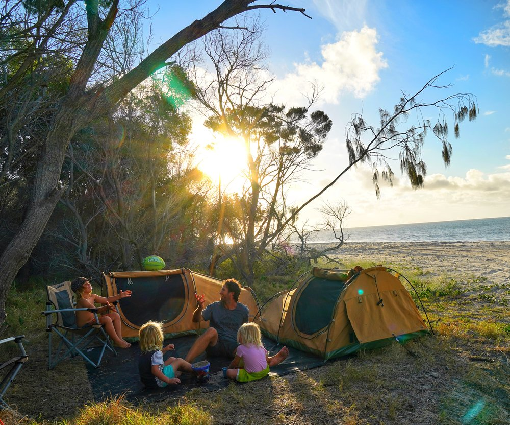 Campsite at Sandy Cape in the Carree Camping Zone