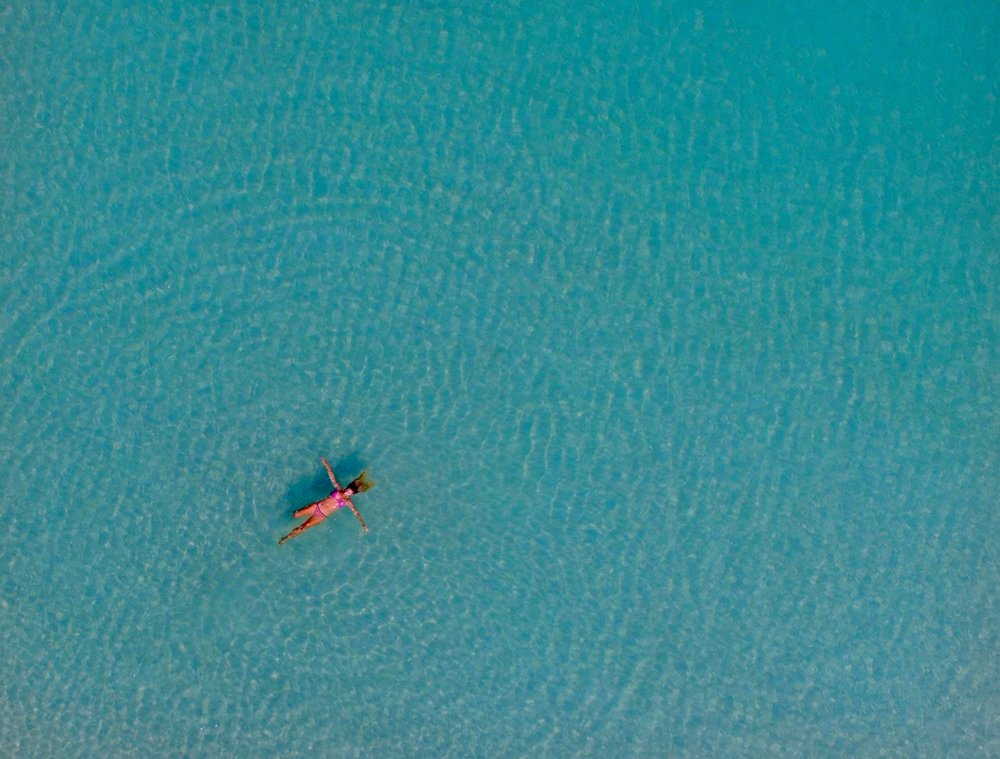 Floating in the beautiful waters of Fraser Island!