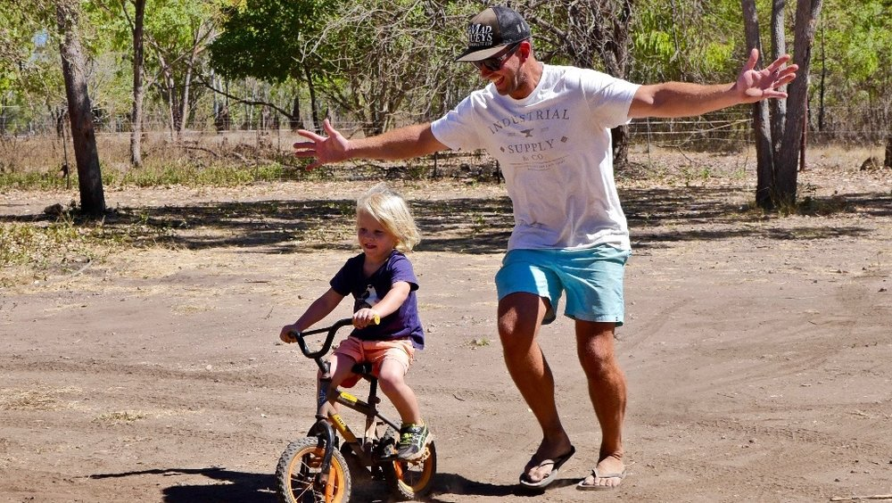 The moment Billy came off his training wheels.