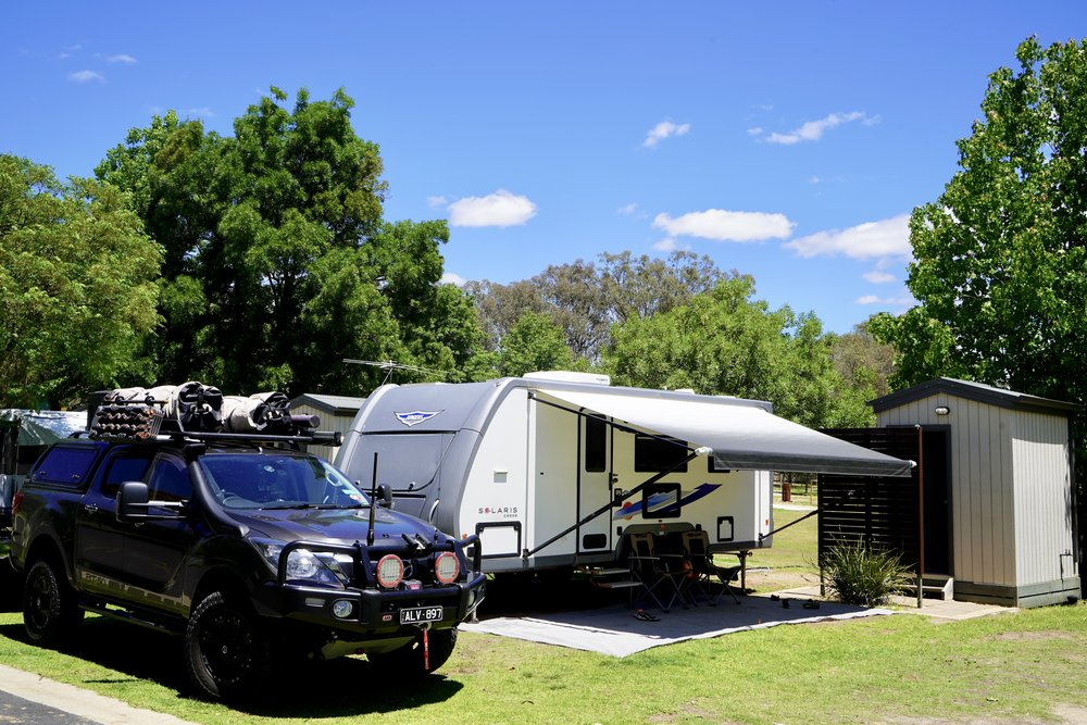 Our site at Discovery - Lake Hume