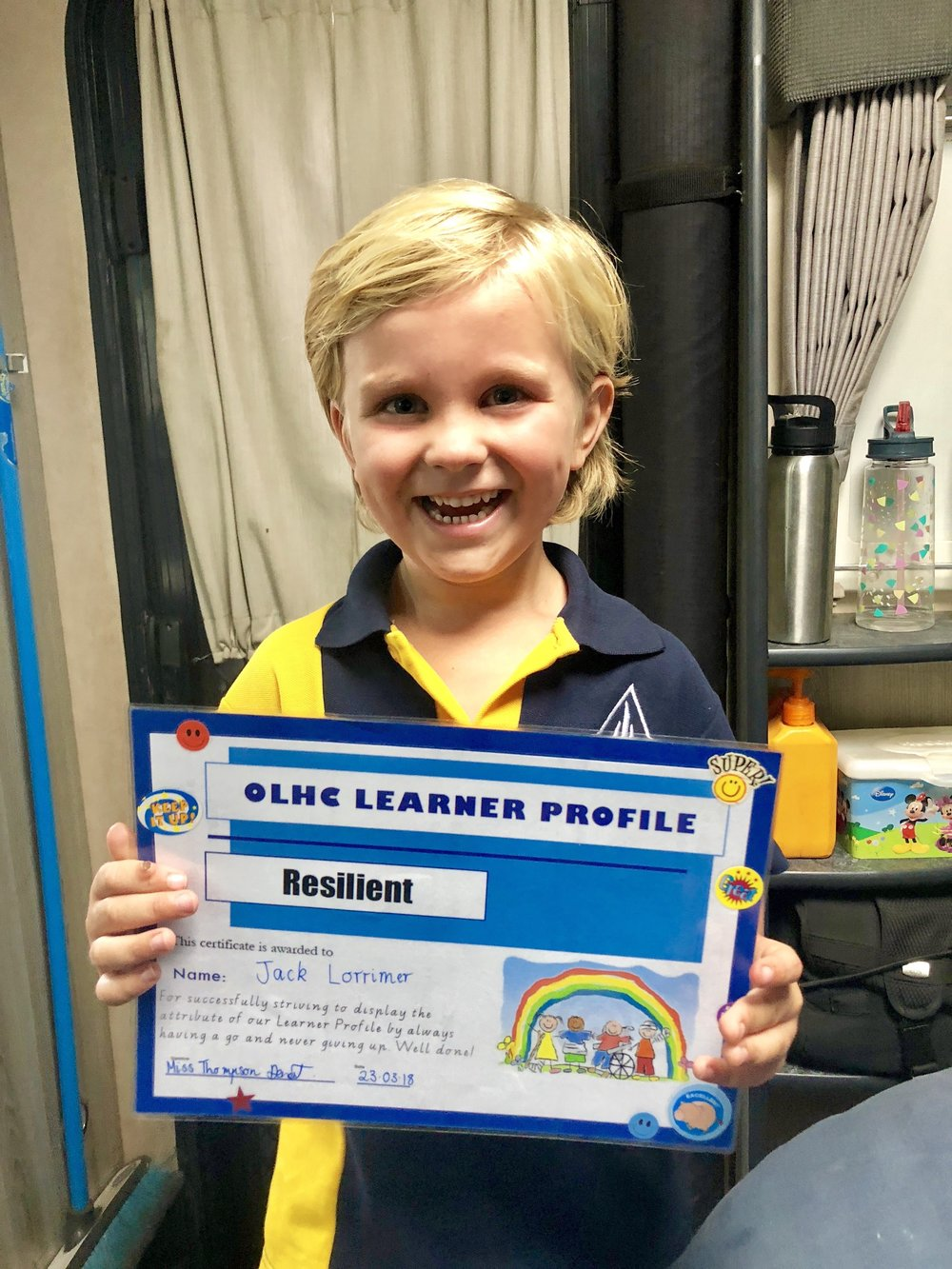School Award, so proud.