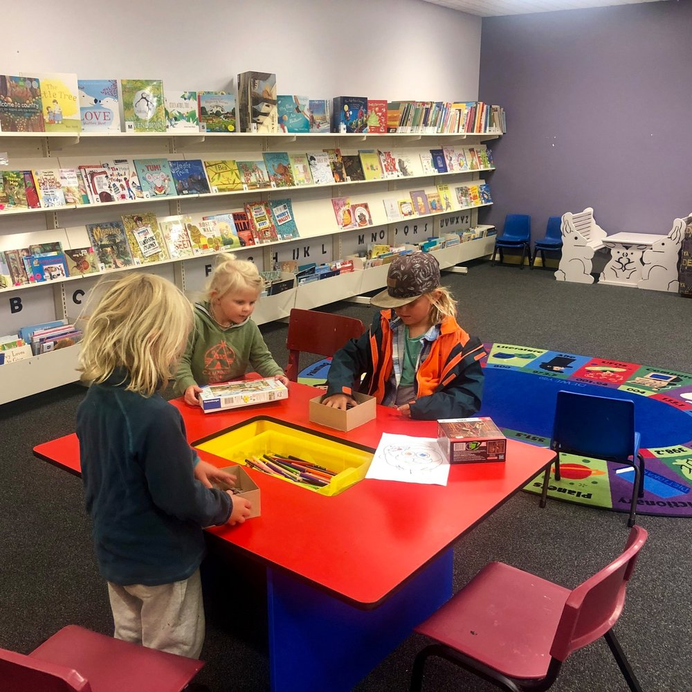 They love to go to the Library - many are very kid friendly and offer story time.