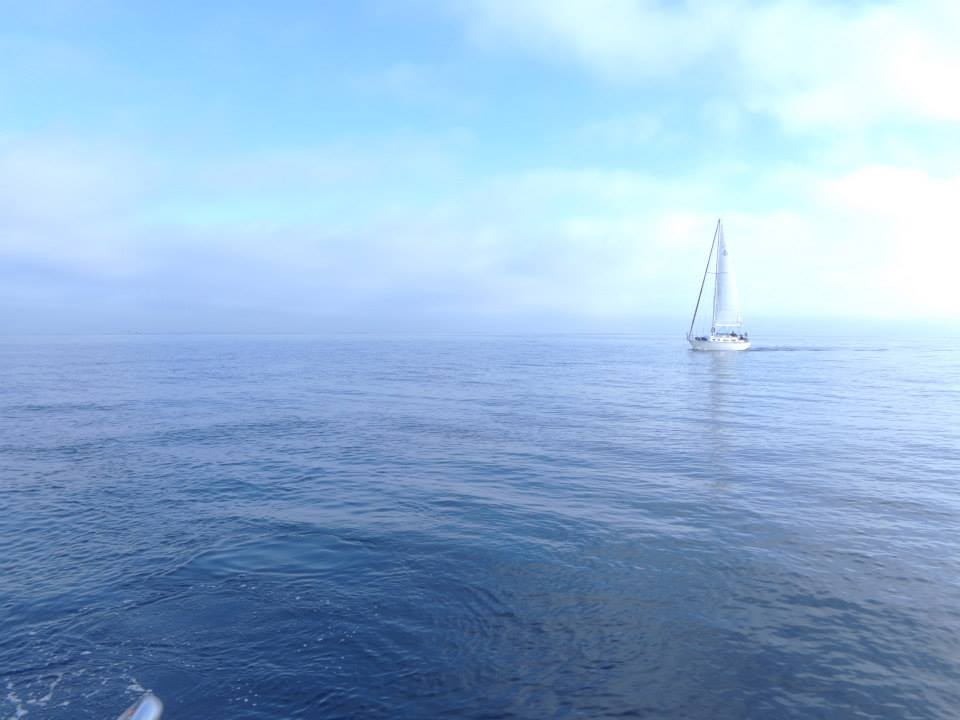 A serene morning topside on the boat off of Catalina Island.