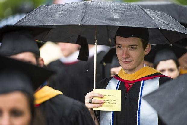 Photo by  The Poughkeepsie Journal , Marist College Commencement ceremonies, 2013