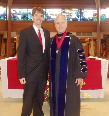 Michael with Marist College President, Dennis J. Murray, at the 2013 Baccalaureate Award Ceremony.