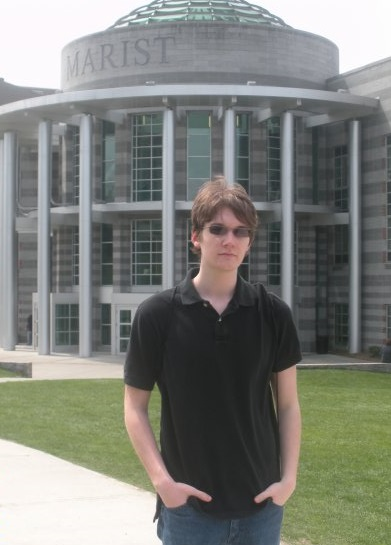 My first photo on the Marist campus, back in 2009.