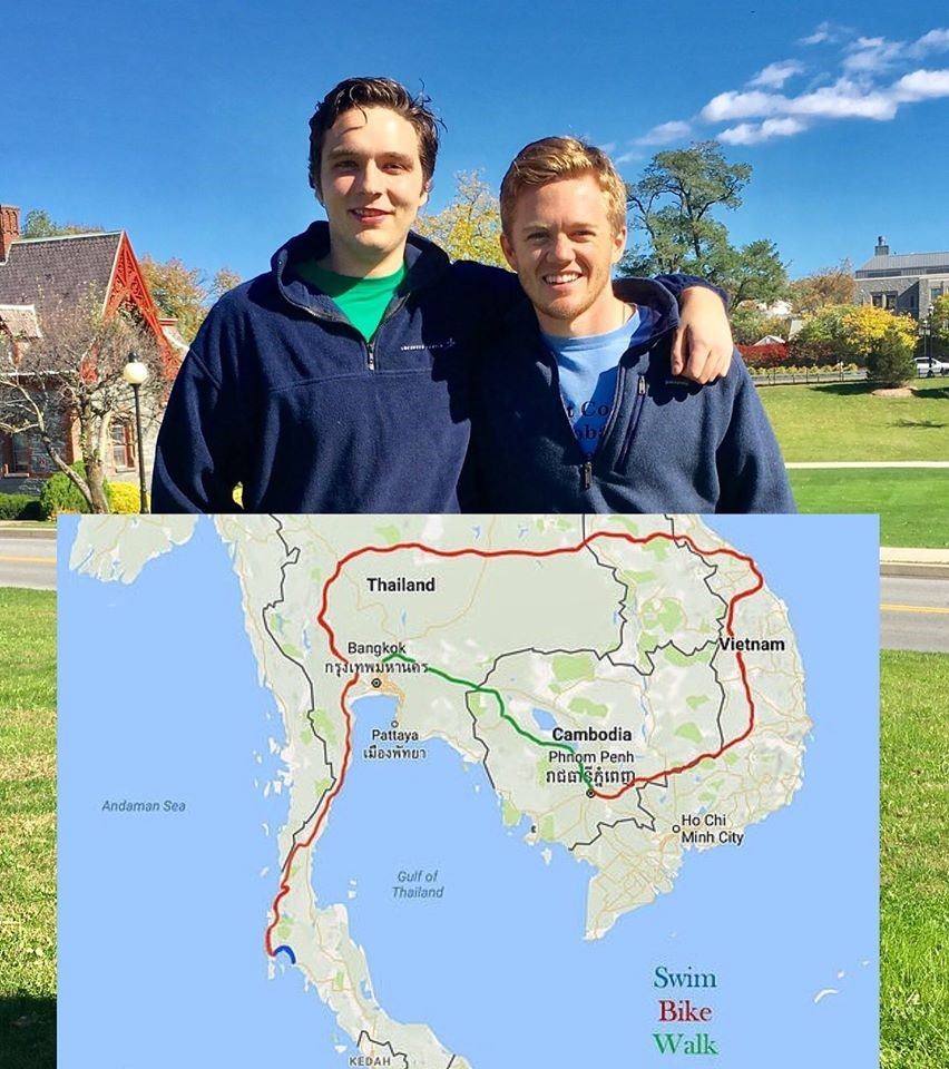 Mike Duffy (right) and his friend John Herman (left) will embark on a long journey through South East Asia to bring water to communities in dire need.