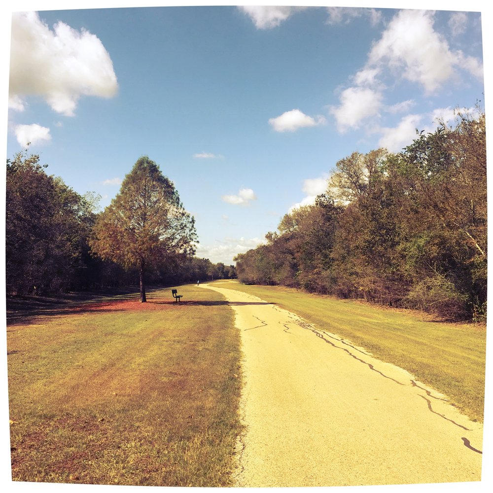 Section of the paved hike and bike trail