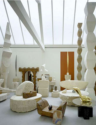 Brancusi's Studio at the Centre Pompidou. Image: Centre Pomidou.
