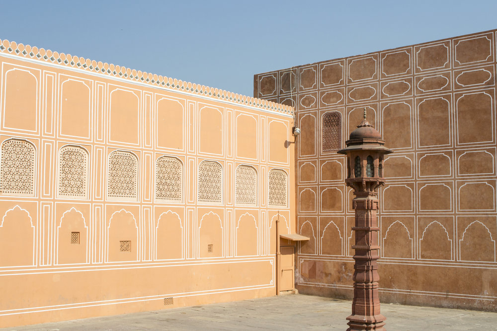 The main courtyard inside Jaipur City Palace.