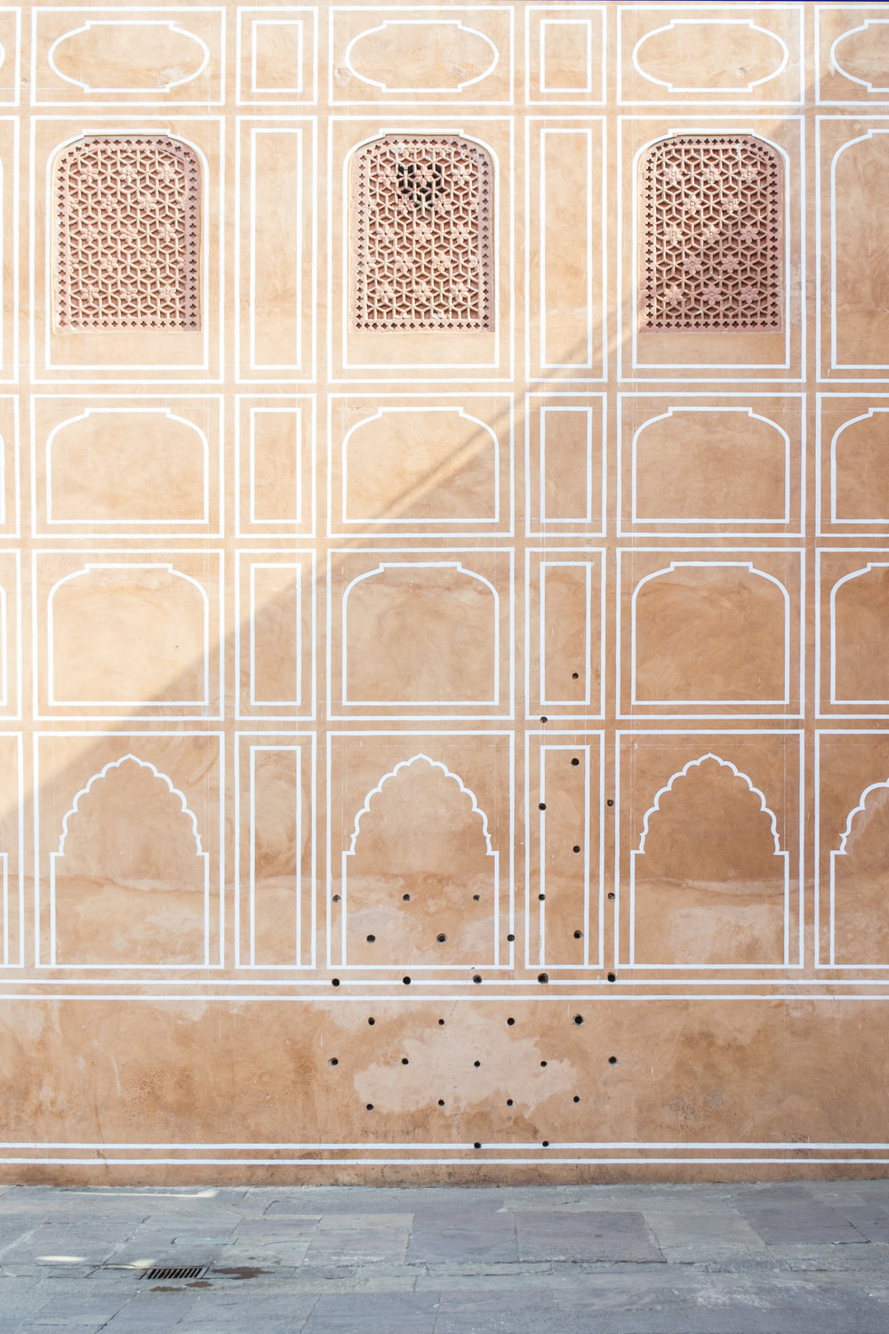 A wall inside Jaipur City Palace.