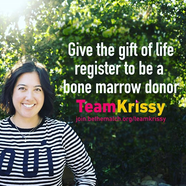 Please join us on WEDNESDAY, and post on twitter, facebook, and instagram about the need for more diverse bone marrow donors!  Krissy has found out her brother can finally be considered a haploidentical donor match, but so many others are not as lucky! We need to help them find their cure!  This Wednesday join Team Krissy in Sharing, reposting, and retweeting about how people can join the registry!  Together we can make it hapa'n!