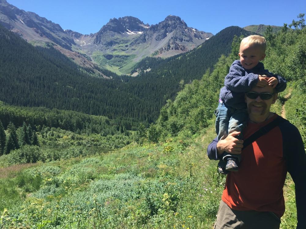 Papa Bear and the Little Bear near Ophir, Colorado.