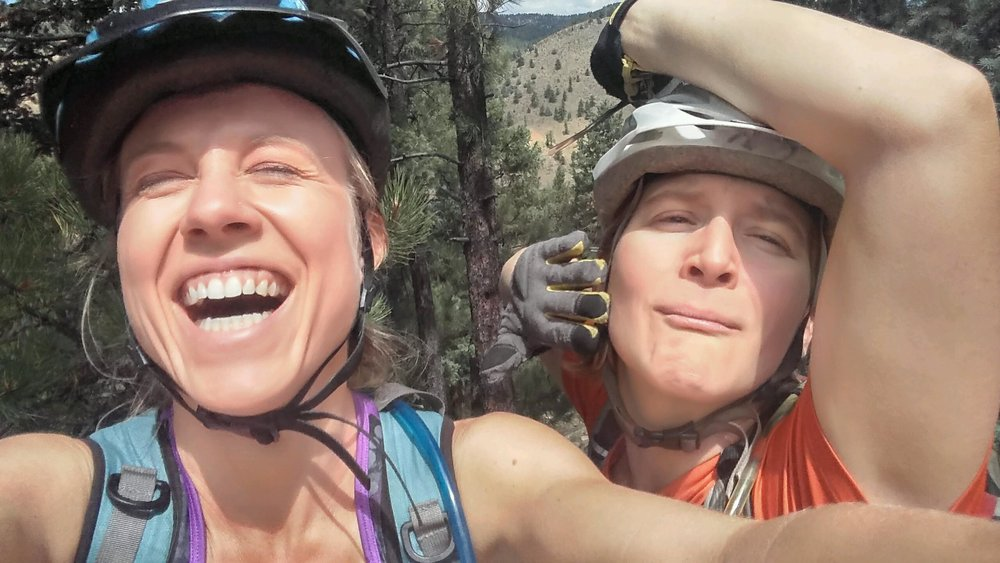This day. This ride. It was a shit show in so many ways. Bike issues. Shoe issues. But that doesn't matter. It was an awesome day because it was a day on the trail with my bestie. How far, how fast, how epic...unimportant. Image Credit to Kelsey Colby