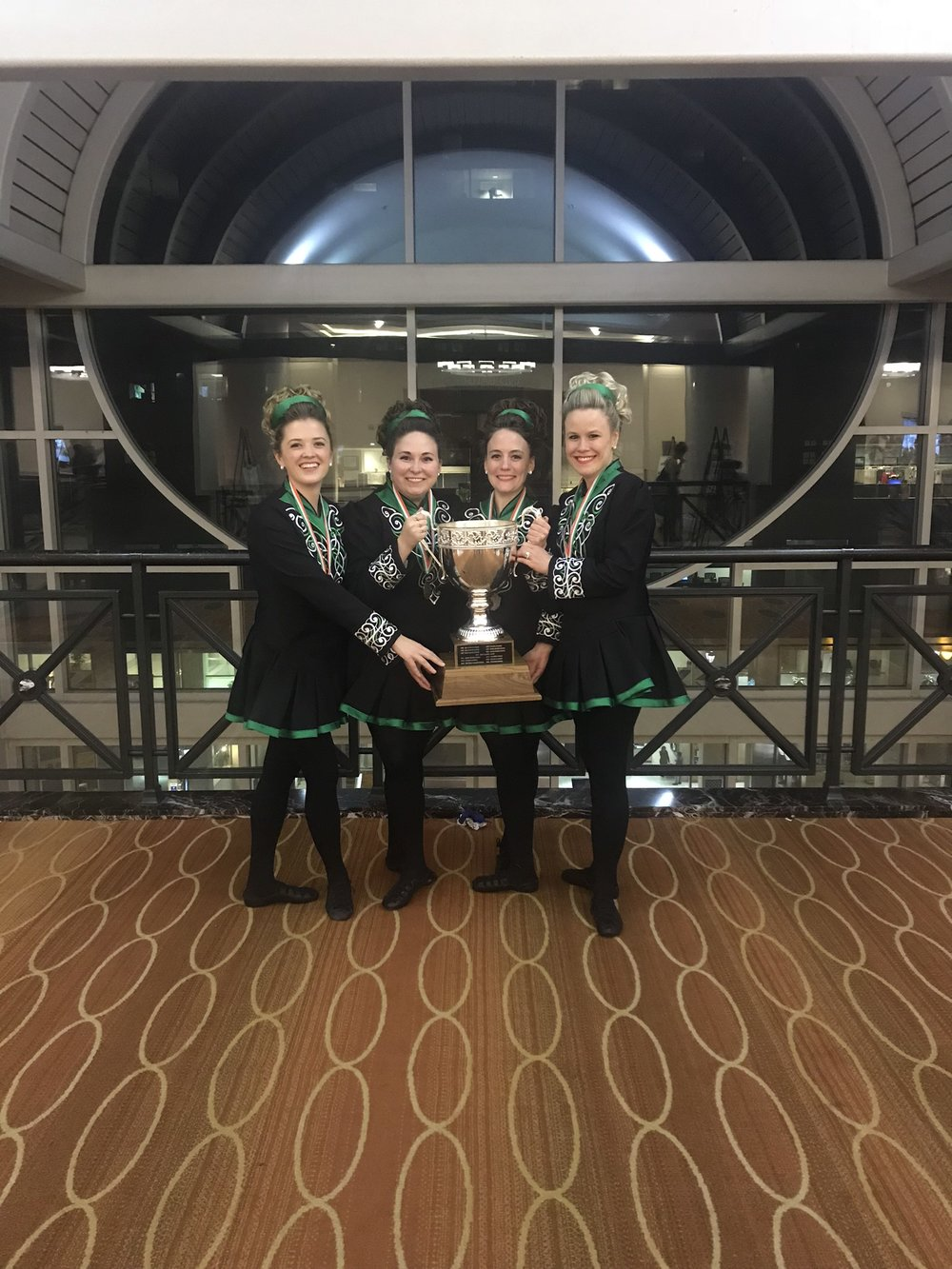 Aherne Sheehan Irish Dance Manhattan Upper East Side Winning Team TCRG Elise Wright Betty Sheehan.JPG