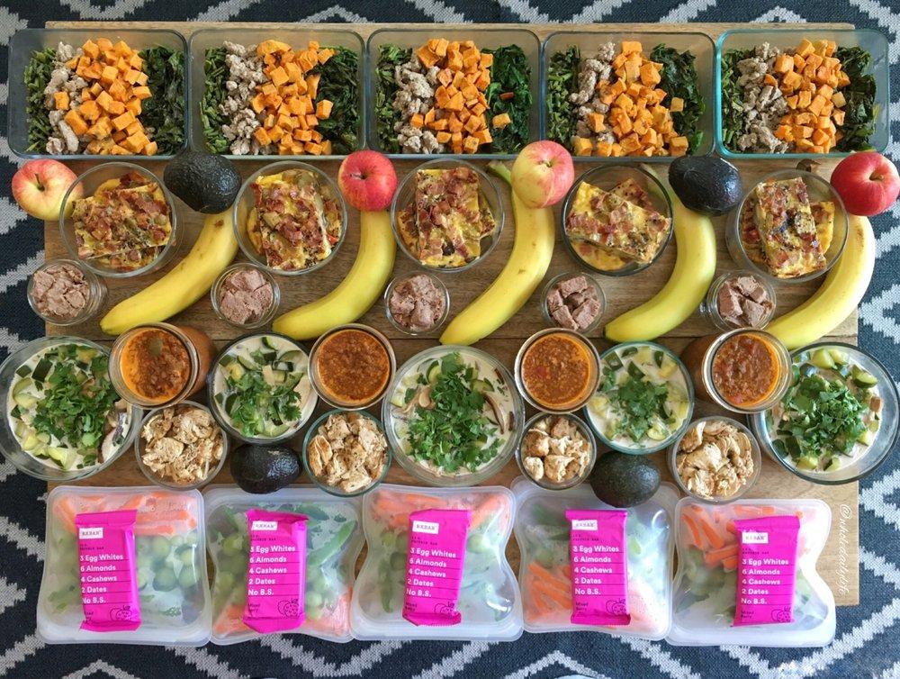 Meal Prep 6/26/17: Whole 30 Week 1
