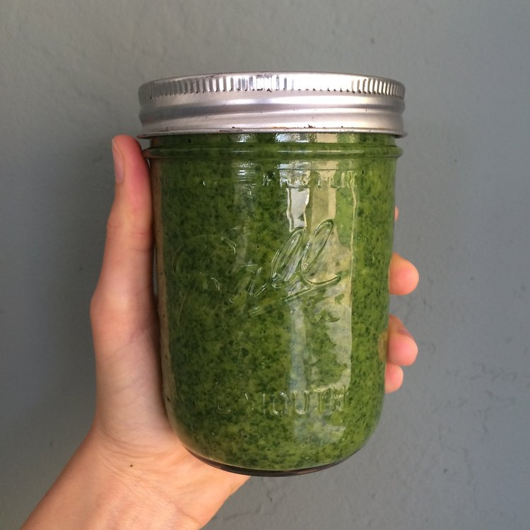 Dairy Free Pesto  - This pesto is a staple in my house, I almost always have some on hand! I slather it on everything from veggies to soups, and it's packed full of herbs that add a kick of flavor while supporting overall health and digestion.