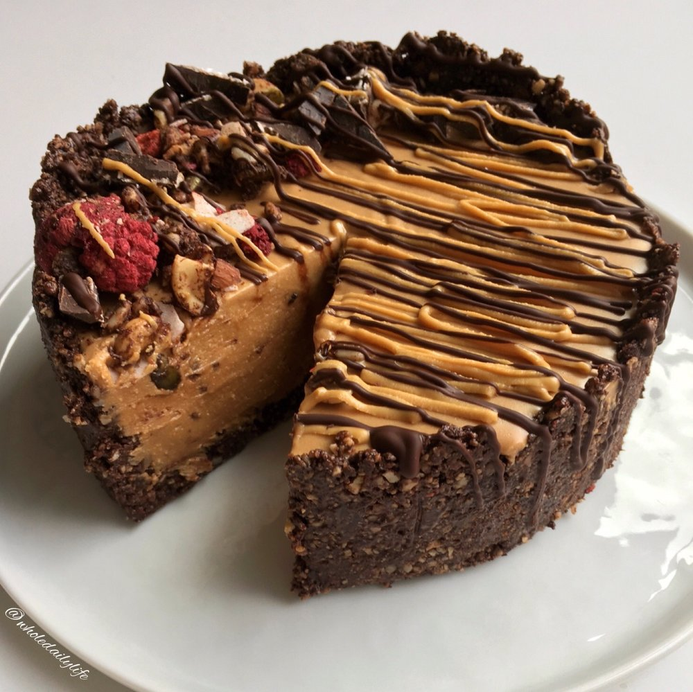 Chocolate Granola No-Bake Almond Butter Fudge Pie - Need I say more?