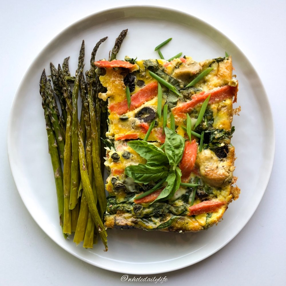 Smoked Salmon and Caper Frittata | Whole Daily Life