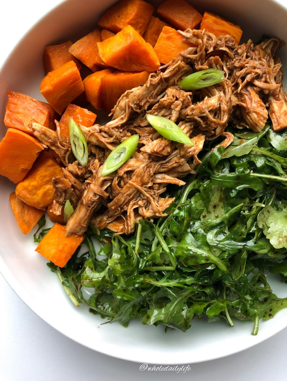 BBQ Chicken in the Instant Pot - This minimal ingredient hands off recipe is one of my favorites for batch prep, and it's Whole30 compliant!