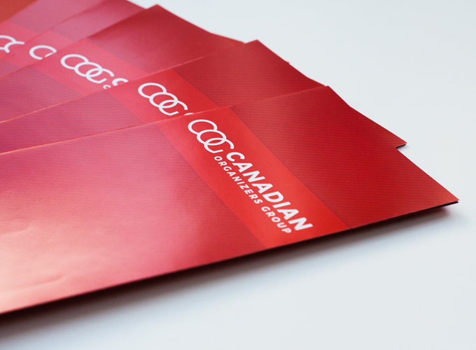 Brochure Design–Canadian Organizers Group – With on-brand styling and clearly structured content, brochures are an effective way to express the value of your services to your customers. Click through for examples!