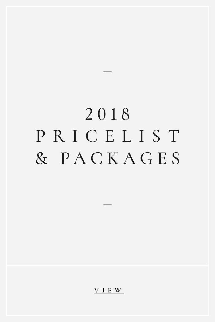 Jillian Schecher - Pricelist and Packages