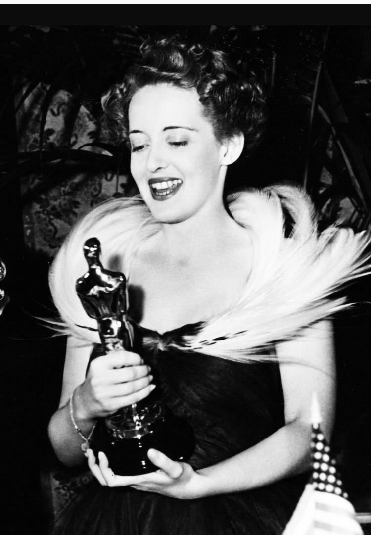 Bette Davies receives Oscar no.2
