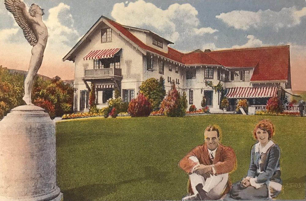 Mary Pickford & Douglas Fairbanks at Pickfair