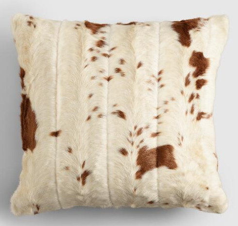 Faux Cowhide Throw Pillow World Market