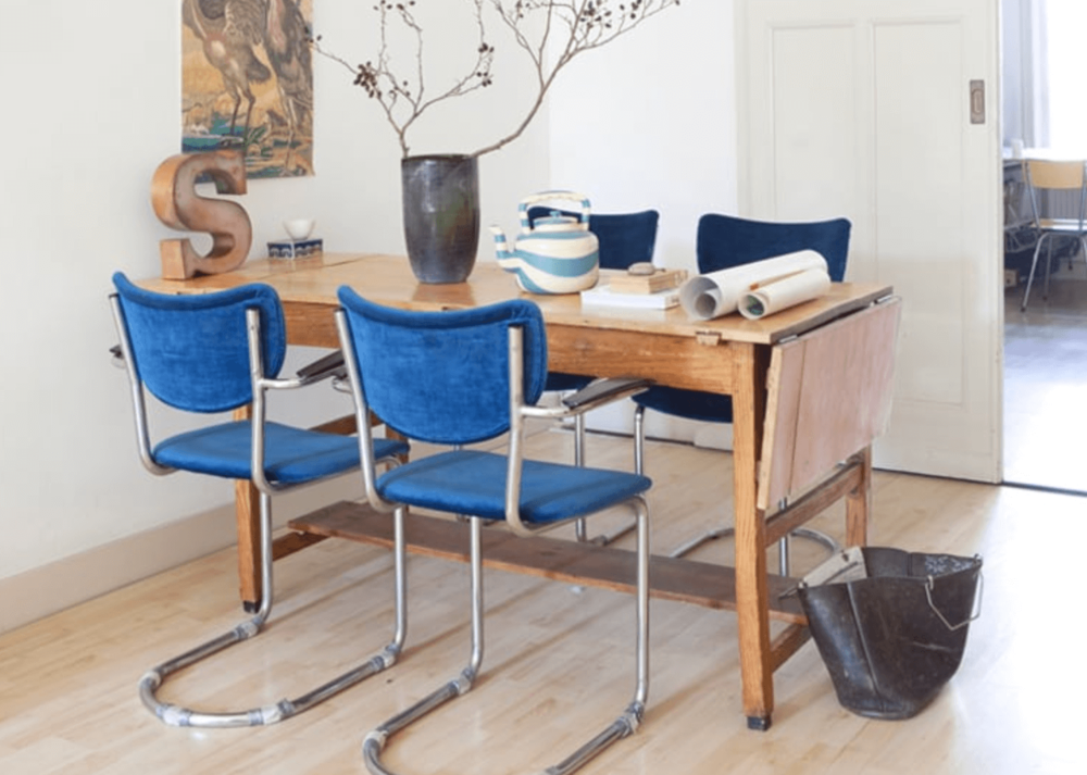 Small Apartment Drop Leaf Table Chairish .png