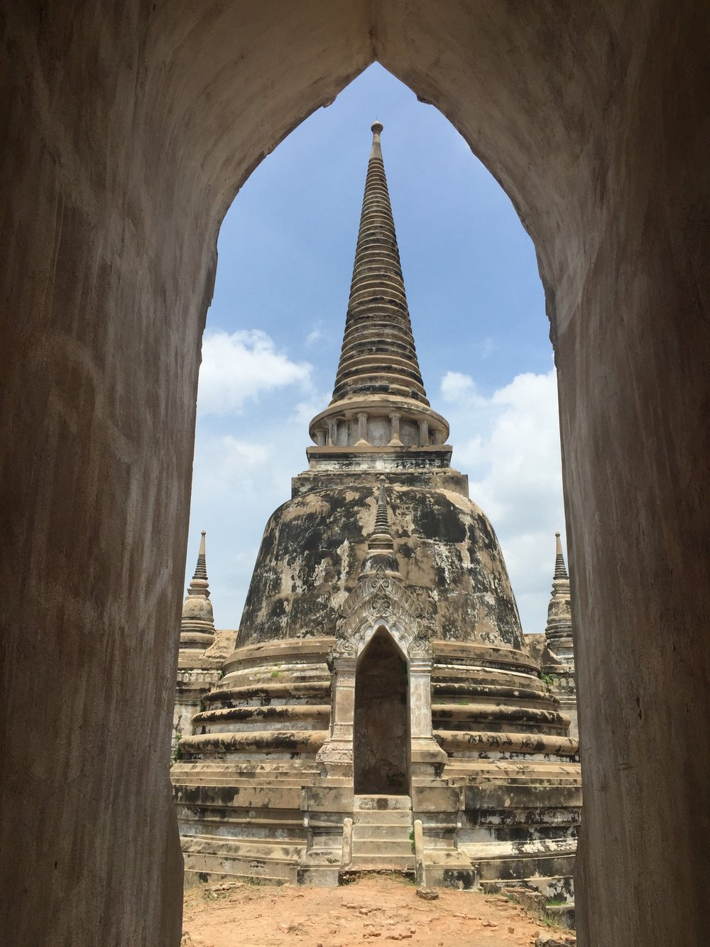 Wat Phra Si Sanphet was the holiest temple, located at the heart of the ancient Royal Palace. Of the formerly massive complex, only the three Chedis remain, hinting at the once-great Empire.