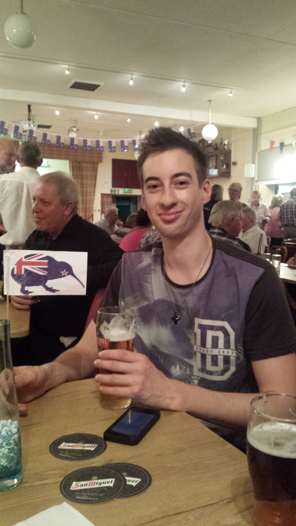Luke enjoys a Pint at Dobcross