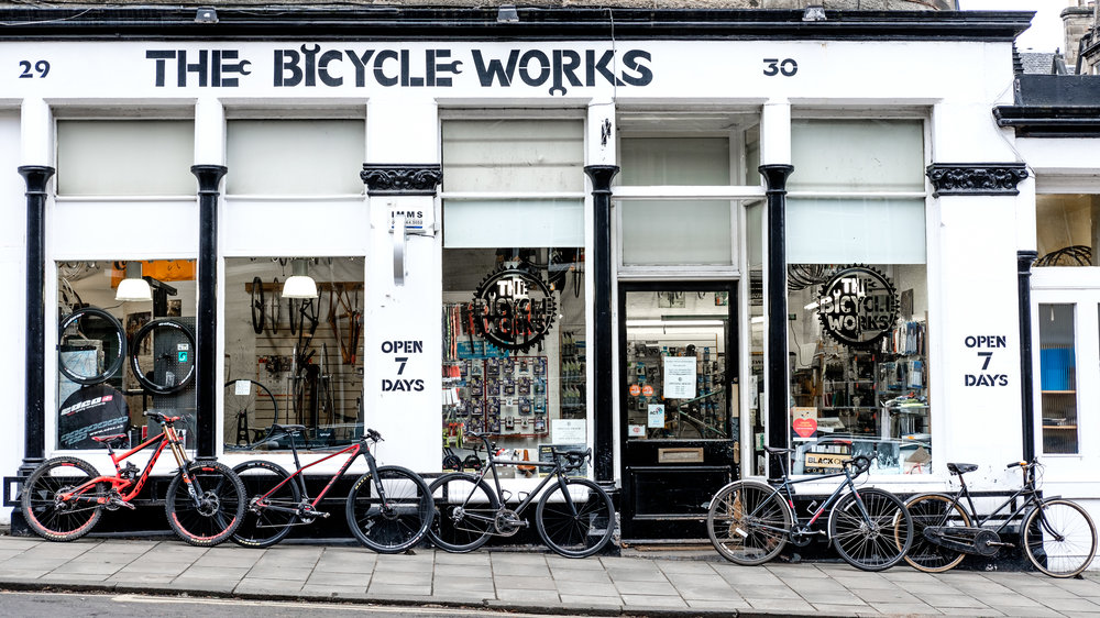 Welcome to the Bicycle Works, Edinburgh.
