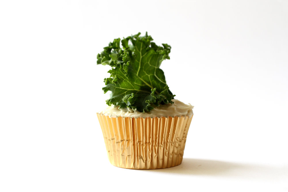 Sweet Kale Cupcakes made with Miss Jones