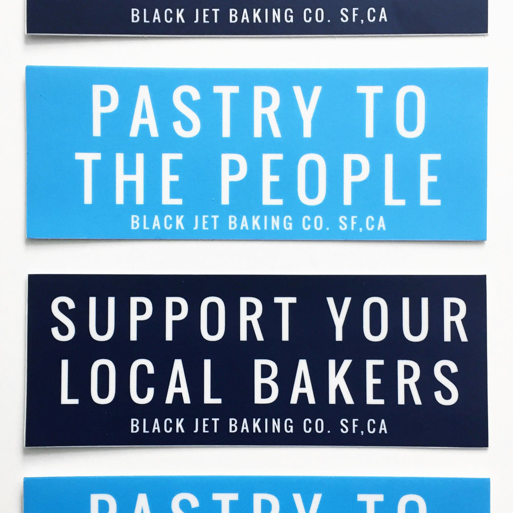 Black Jet Baking Co. Stickers