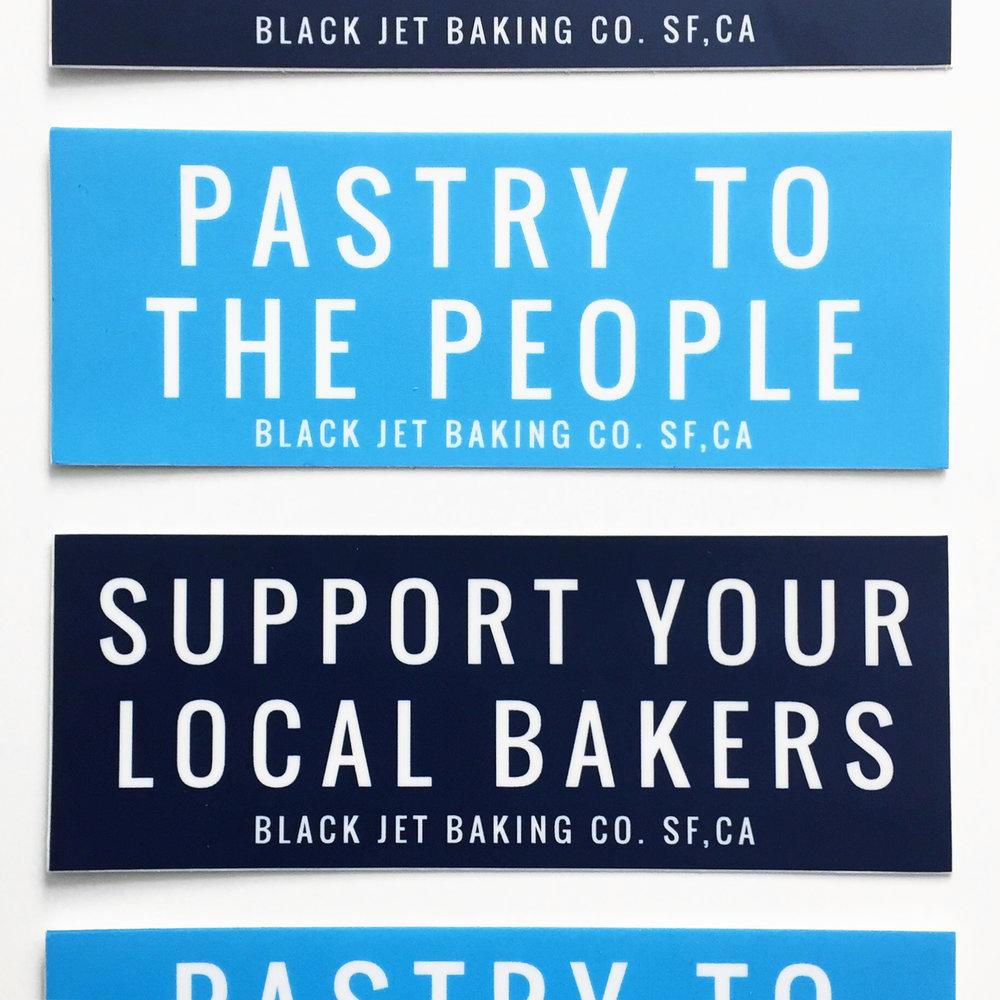 Black Jet Baking Co. Stickers