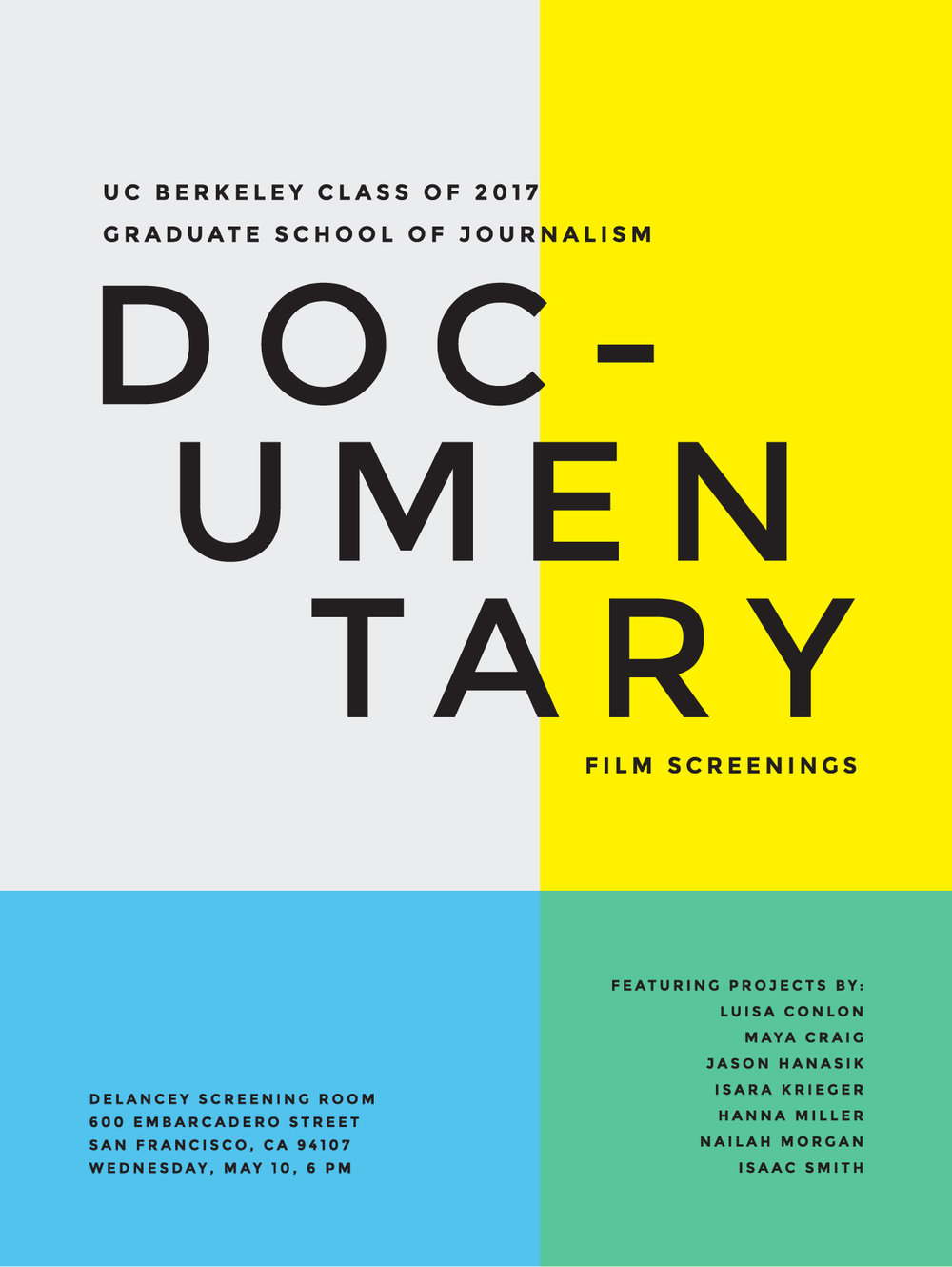 UC Berkeley Graduate Documentary Film Festival