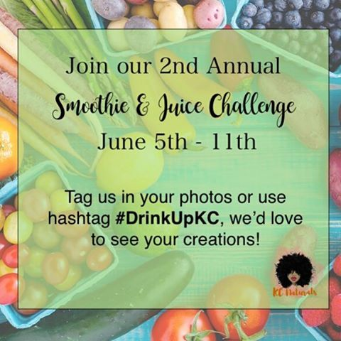 Join @naturalsinkc for our 2nd Annual Smoothie & Juice Challenge❣ Nourishing your natural hair starts from within. For one week in June, we will be sure to have one veggie based smoothie or juice per day. Visit the link in my bio for the details! . . . . www.naturalsinkc.com  __________________________________ #naturalsinkc #naturalhair #greenjuice #DrinkUpKC #healthy #braids #teamnatural #hairgoals #hairjourney #4chair #healthyhair #twistout #meetup #kansascity #kc #minitwists #naturalhairgroup #hairgoals #hairtips #haircrush #happyhealthyhair #kchair #913 #816 #kcnaturalhair #melanin #blackgirlmagic #blowout #smoothie
