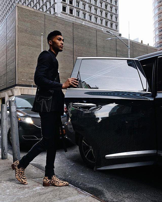 driven by my wild side. 🐆 i'm taking a ride with @stevemadden—get in. 👞 #imwithsteve #sponsored