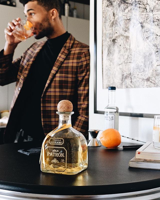 my current remedy for dealing with the winter weather: a fresh twist on the old fashioned, courtesy of my buddies at @patron. hit my IG story to learn how to make one at home using patron añejo—it's super easy and #simplyperfect. ✨🥃✨ #ad