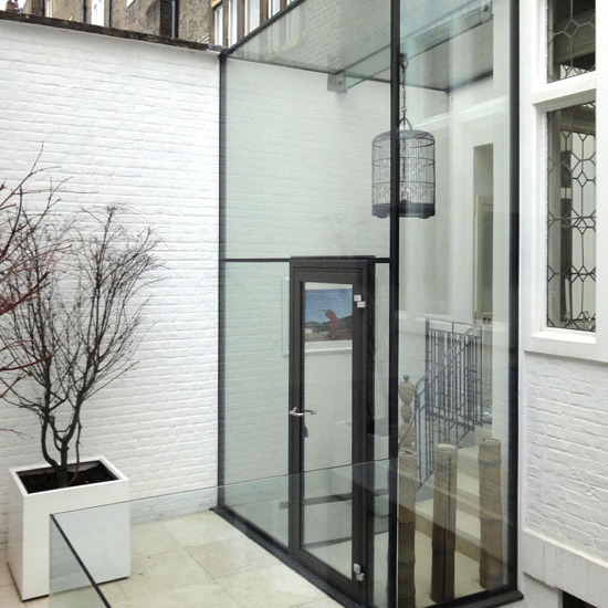 A GLASS BOX A London apartment on three floors
