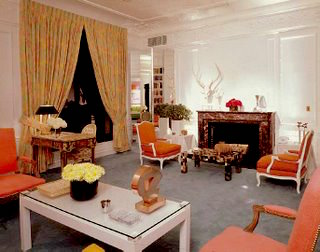 DAVID HICKS INTERIOR DESIGNER ORANGE DRAWING ROOM