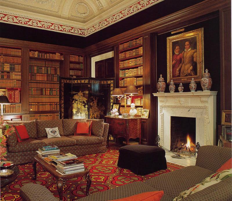 DAVID HICKS INTERIOR DESIGNER LIBRARY LIVING ROOM